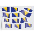 bosnia flag2 vector image vector image
