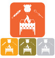 brazier zephyr kebab and chicken icon vector image vector image