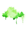 bright green watercolor hand painted texture vector image