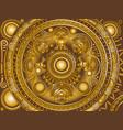 bronze ornament maya vector image vector image