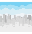 Buildings silhouette cityscape vector image vector image
