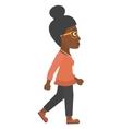 Business woman walking vector image vector image