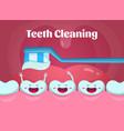 cartoon cute and funny teeth in vector image