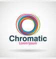 chromatic emblem business icon vector image