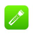 clipper icon digital green vector image vector image