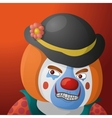 Clown angry vector image