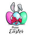 easter banny with egg vector image vector image