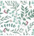 eucalyptus branches hand drawn seamless vector image vector image