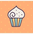 Flat cupcake icon vector image