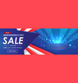 happy independence day sale banner template vector image vector image