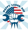 Happy Labor Day and workers right poster vector image vector image