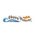 happy passover abstract banner vector image vector image