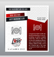 happy valentines day red icon vertical banner red vector image vector image