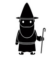 isolated gnome icon vector image vector image