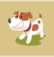 jack russell puppy character smiling cute funny vector image vector image