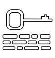 keywords icon vector image