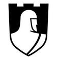 knightly design knight templar in a heraldic vector image vector image