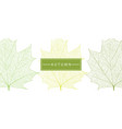 leaf cover template vector image vector image