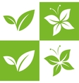 Leaf Pair Icon vector image vector image