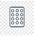 matzo concept linear icon isolated on transparent vector image