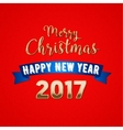 Merry Christmas 2017 Greeting Card vector image