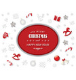 merry christmas and new year card template with vector image vector image