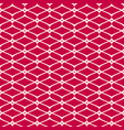 mesh seamless pattern red and white luxury vector image