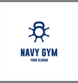 navy gym logo vector image