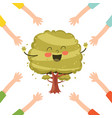 of cartoon tree vector image vector image