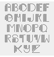 Original curved latin alphabet set vector image