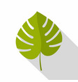 palm leaf icon flat style vector image vector image