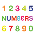 paper numbers colour vector image vector image