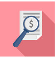 payment paper icon flat style vector image