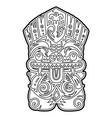 polynesian tiki totem idol mask coloring vector image