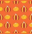 pumpkins seamless pattern pumpkins red vector image vector image