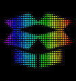 rainbow colored dotted open box icon vector image