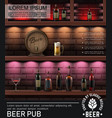 realistic pub colorful poster vector image vector image