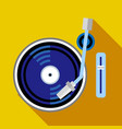 record player phonograph icon flat style vector image vector image