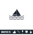 Sailboat icon flat vector image vector image