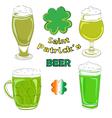 saint patrick beer pints vector image