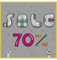 Sale Seventy percents vector image vector image