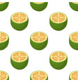 seamless pattern feijoa cartoon flat style vector image vector image