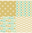 seamless pattern in gold theme vector image vector image