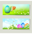 Set of Easter Cards with Decorated Eggs vector image vector image