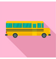 side of school bus icon flat style vector image vector image