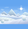simple cartoon of winter vector image vector image