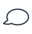 speech bubble icon on white background vector image vector image