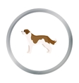 St Bernard dog icon in cartoon style for vector image vector image