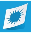 Starburst sticker vector image vector image