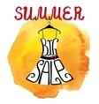 Summer big Sale letteringDresswatercolor yellow vector image vector image